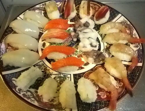 初めての握り寿司