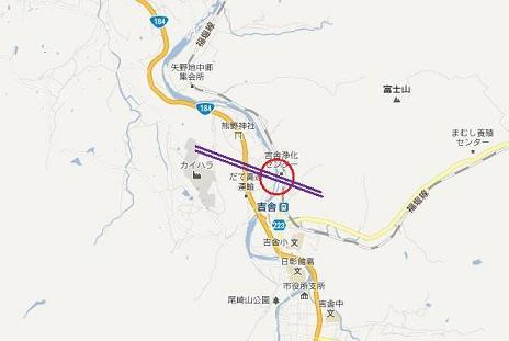 三次市吉舎町の中国横断自動車道 事故