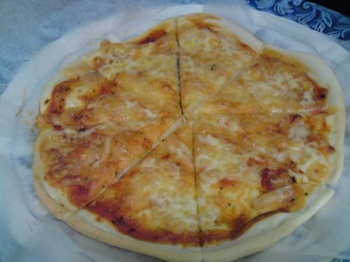 手抜きピザ