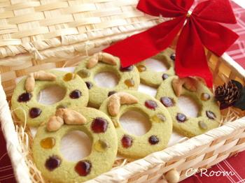 抹茶リースクッキー1