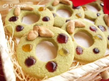 抹茶リースクッキー2