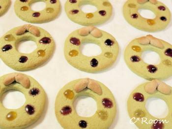 抹茶リースクッキー5