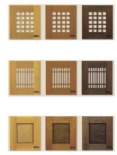 木製インターホンカバー化粧板