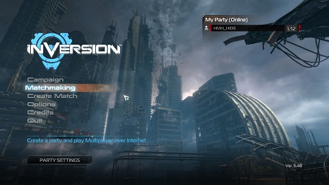 Inversion Menu