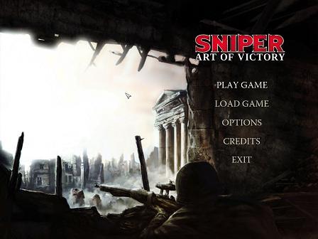 Sniper Art of Victory Menu
