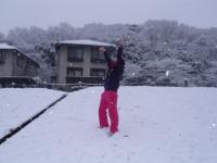 雪の中で(^◇^)