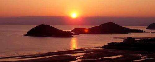 夕日が沈むときは言葉に出来ないほどの景色♪
