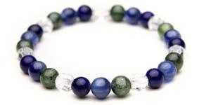 フォルトゥナブレス【6mm】<ラピスラズリAAA&カイヤナイト(ブラジル産)&グリーンカイヤナイト>