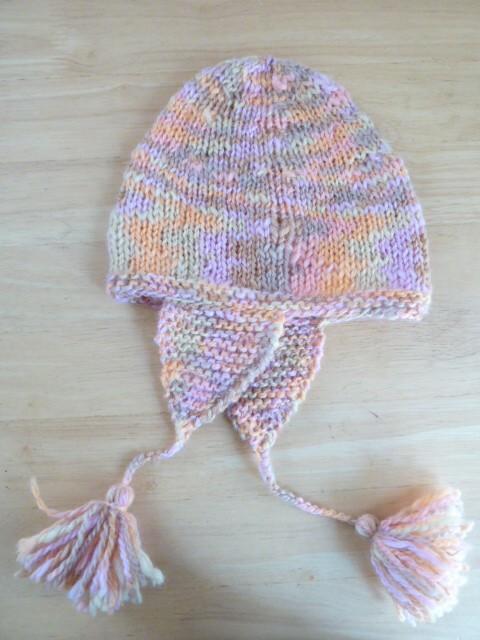 548耳付き帽子作ってみました。
