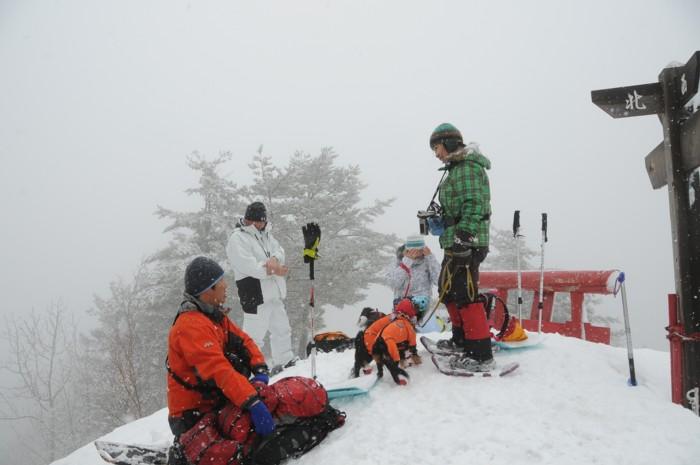 1050~911mの低山でも冬山気分。