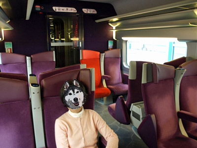 TGVの車内