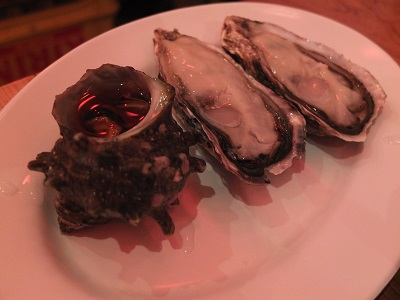 サザエと牡蠣