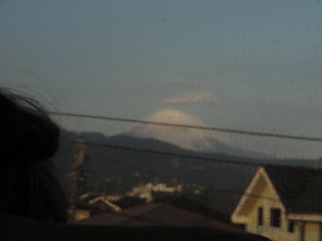 新幹線から見えた富士山