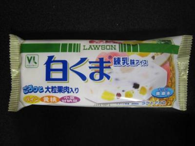 白くま練乳味アイス