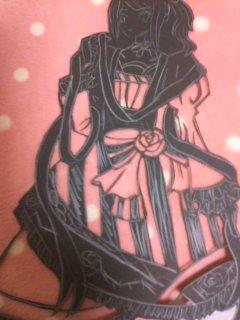 切り絵 青の姫 裏