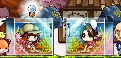 2つの水槽チェア