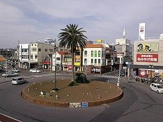館山駅前ロータリー