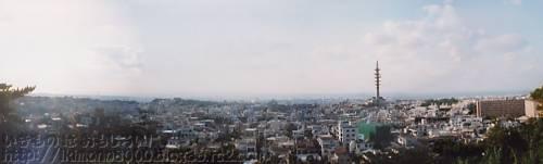 弁ヶ嶽から見た沖縄の市街地(那覇市)