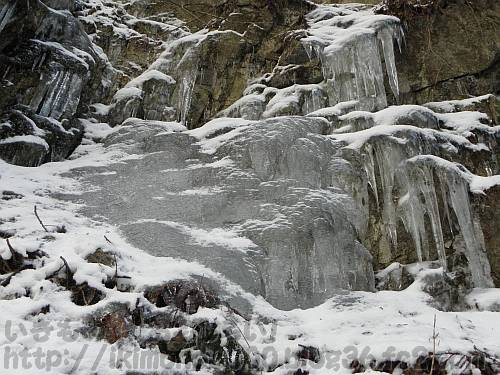 凍った二ノ滝右壁