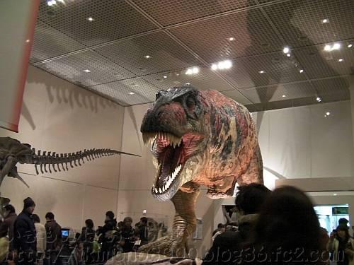 人気のアニマトロニクスのティラノサウルス