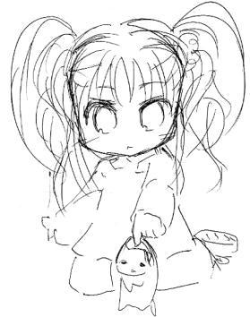 【オリジナル】 幼女と猫 2008年