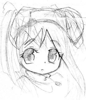 【オリジナル】 うさぎ帽子の女の子 2006年