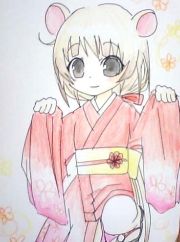 【干支+オリジナル】 ね子 2008年1月 07