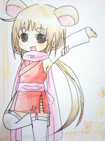 【干支+オリジナル】 ね子 2008年1月 10