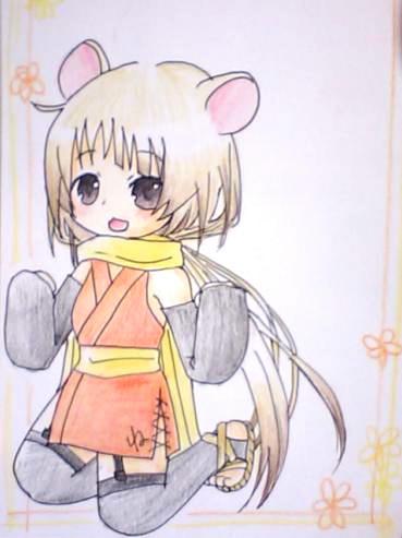 【干支+オリジナル】 ね子 2008年1月 12