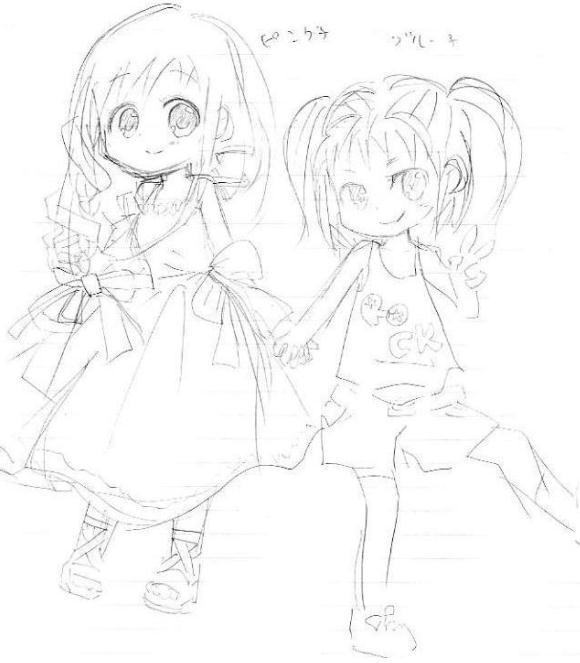 【オリジナル ギャルゲ?】 ピンク&青 09.06.23