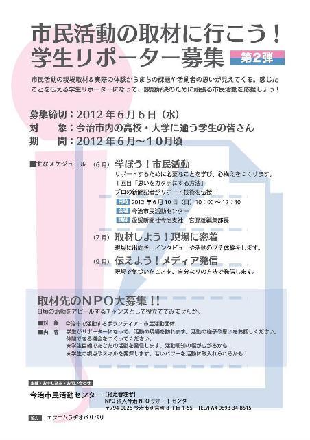 学生リポーター表