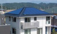 太陽光発電システムを付けている家