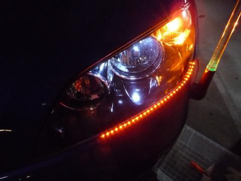 側面発光LEDインストール!