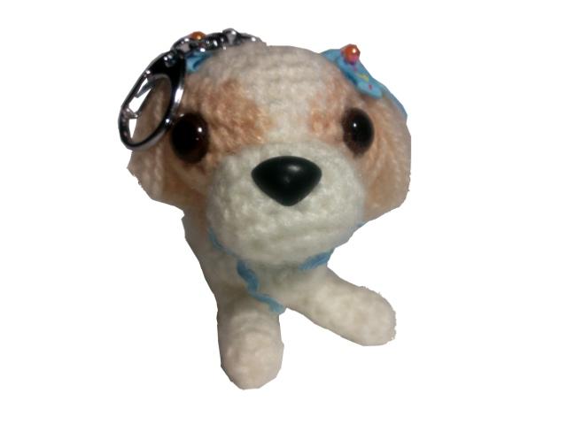 愛犬に似せてキーホルダーM002-1