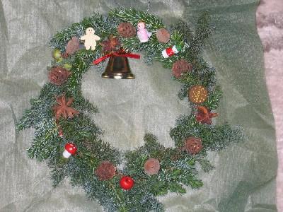 昔のクリスマスリース