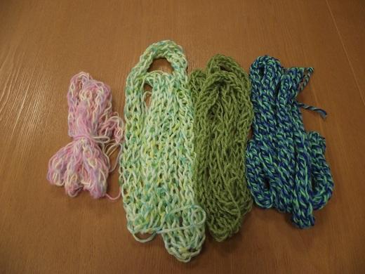 ゆび編み作品