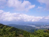 朝熊山山頂から東を望む