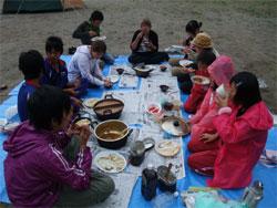 キャンプ食事
