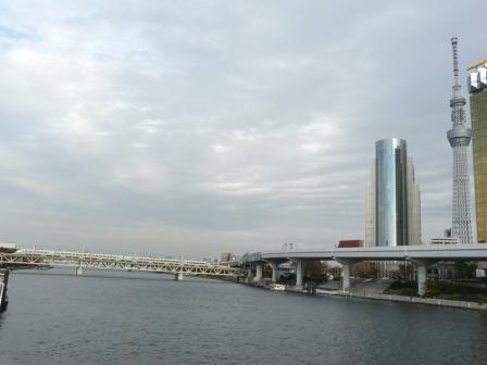 浅草・吾妻橋付近 東武スカイツリーライン 特急スペーシア 1