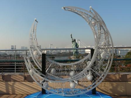 お台場海浜公園 レインボーブリッジ & 自由の女神像 2
