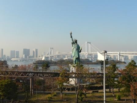 お台場海浜公園 レインボーブリッジ & 自由の女神像 3
