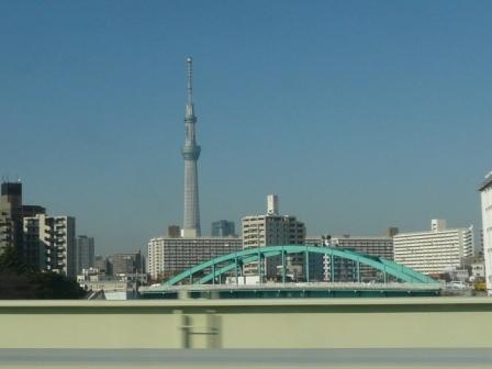 成田エクスプレス 車中にて スカイツリー 1