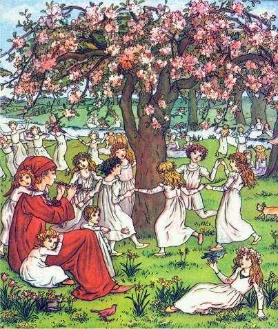 The pied Piper of Hamlin by Robert Browning illustrated by Kate Greenaway
