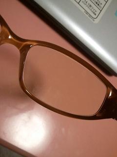 メガネにクリーム