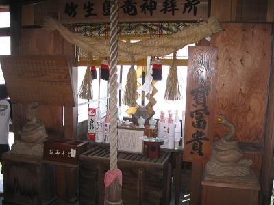 竹生島 八大竜王拝所の蛇