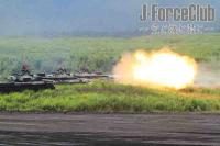 100828 富士総火演 74式戦車 実包射撃