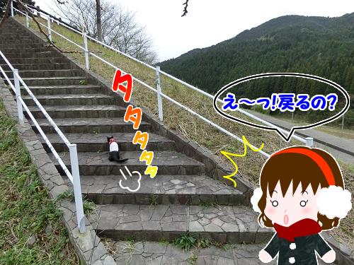 9階段を上る