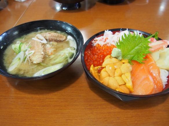 ヤン衆5色丼 カニ汁
