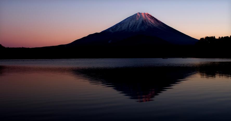 夕日アタマと精進湖 (136)s