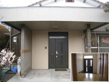 【施工事例vol.70】施工後:玄関建具のリフォーム(引き違い戸→玄関親子ドアへ)